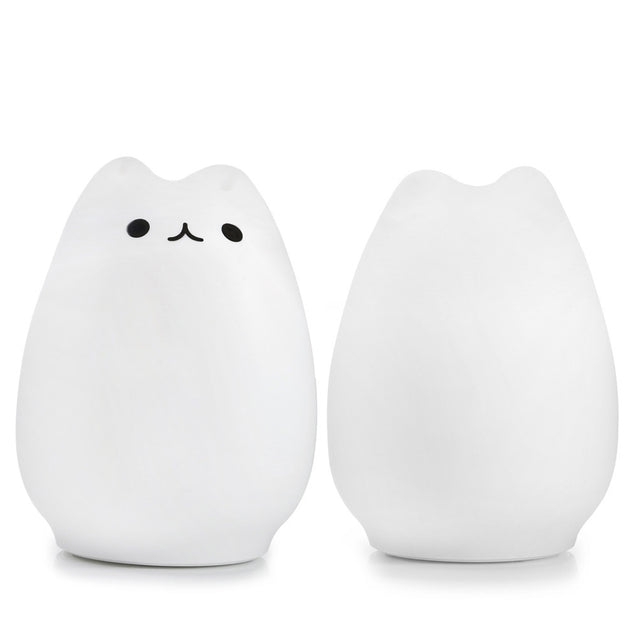 Coupcou.com: Color Changing Silicone Cat Night Light Baby Nursery Bedside Lamp