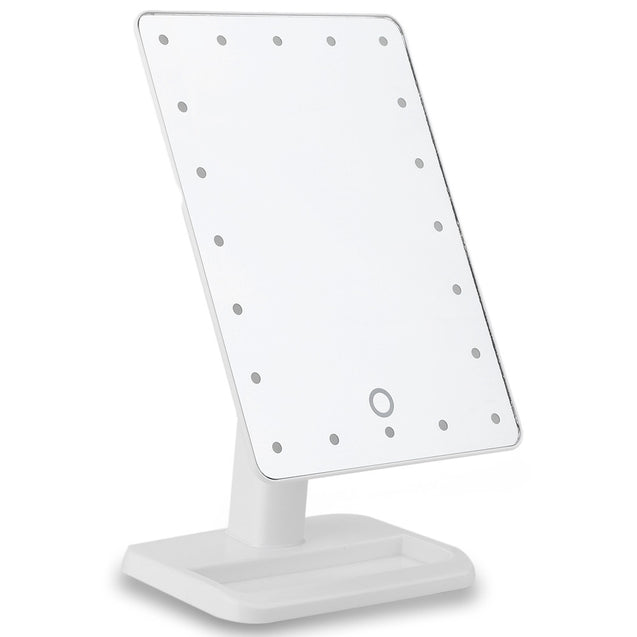 Coupcou.com: Portable 20 LEDs Touch Screen 180 Rotating Cosmetic Mirror