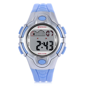 Coupcou.com: MINGRUI 8502 Kids Digital Movt Watch LED Light Date Day Chronograph Display 3ATM Wristwatch