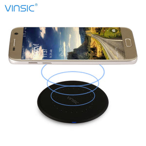 Coupcou.com: VINSIC VSCW114 Mini Ultra-thin Qi Wireless Charging Pad with Cable for Qi-enabled Devices
