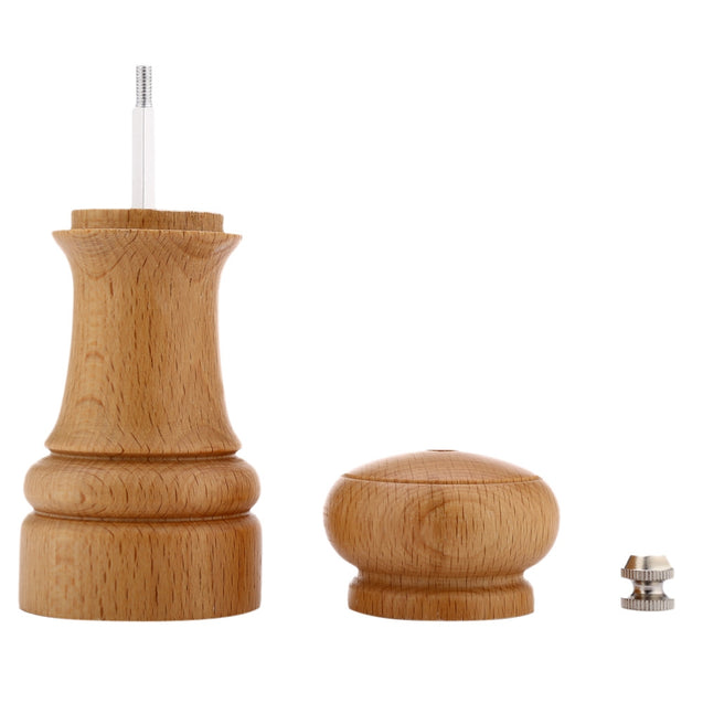 Coupcou.com: Pepper Spice Wood Grinder Seasoning Manual Mill Cooking Tool Kitchen Accessory