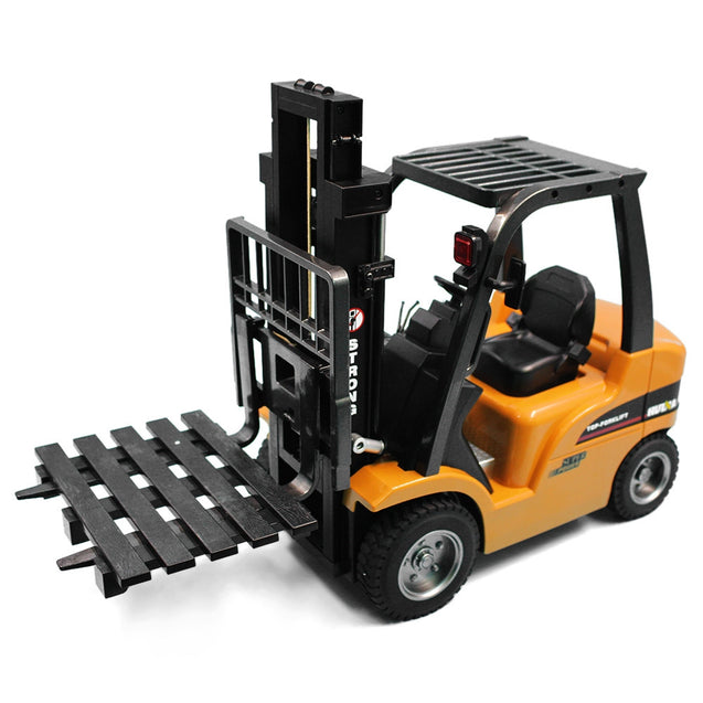 Coupcou.com: HUINA 1577 1:10 big scale metal 2-in-1 RC Forklift Truck / Crane RTR 2.4GHz 8CH / 360 Degree Rotation / Auto Demonstration / LED Light