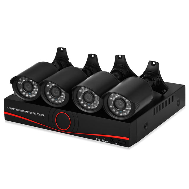 Coupcou.com: TP1004BS 720P 4 Channel AHD DVR Kit with 4 Cameras