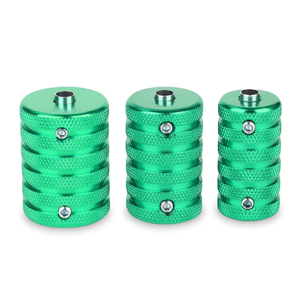 3pcs / Set 25mm 30mm 35mm Aluminum Alloy Tattoo Grips Supply with WrenchGREEN