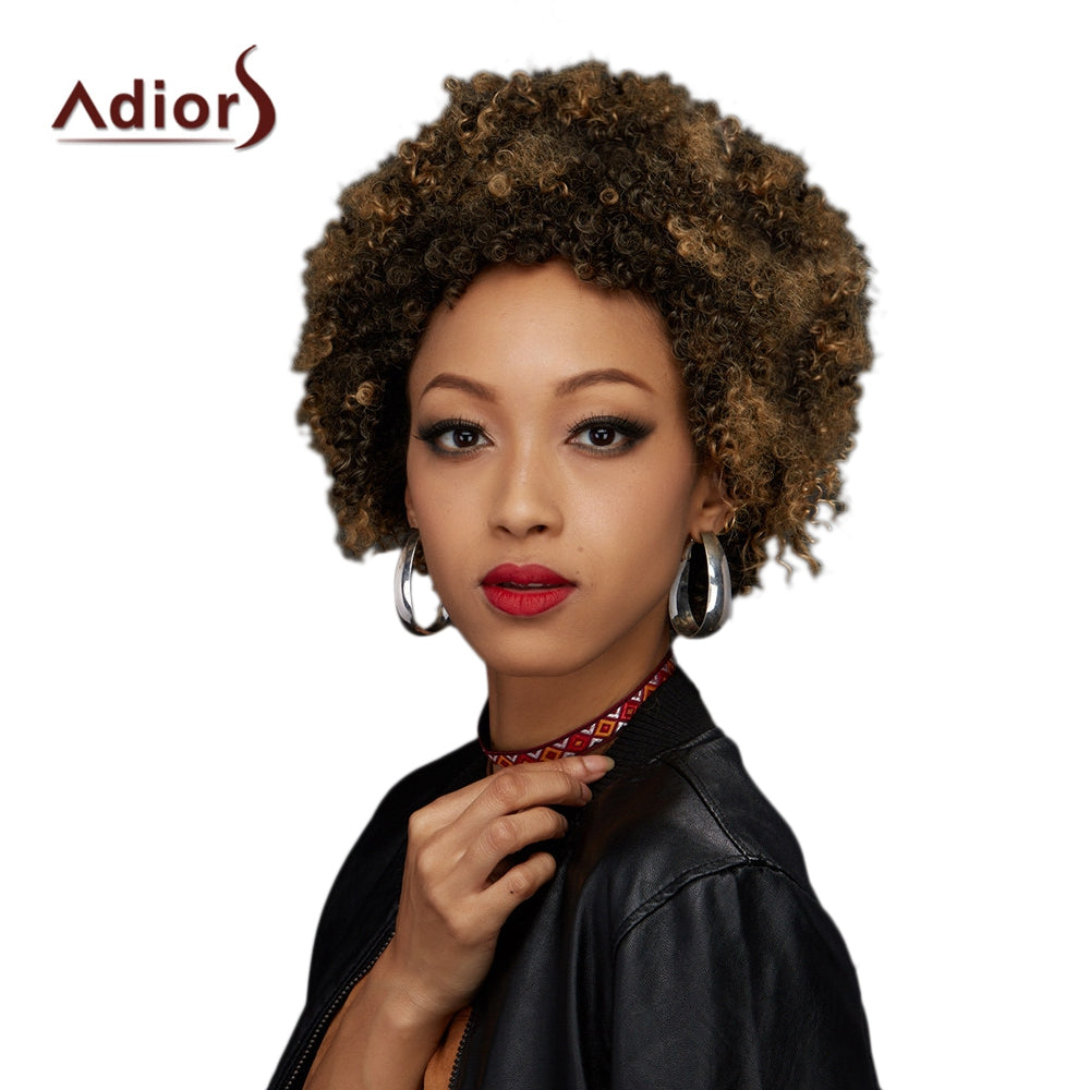 Adiors Colormix Short Fluffy Curly Synthetic WigCOLORMIX