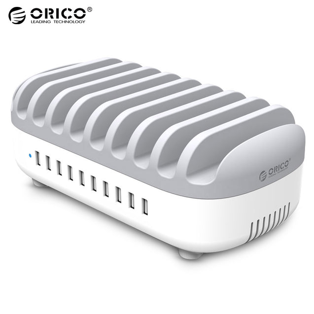 Coupcou.com: ORICO Multifunctional 120W 10 USB Charging Holder Station