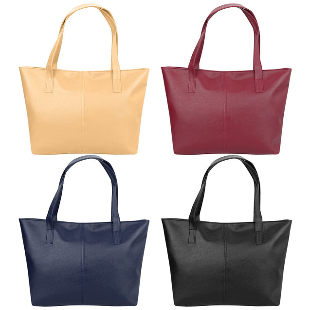 Coupcou.com: Guapabien Trendy Pure Color Zipper Type PU Leather Women Bag