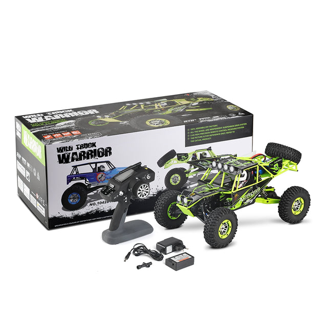 Coupcou.com: WLtoys 10428 2.4G 1:10 Scale Remote Control Electric Wild Track Car Toy