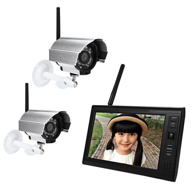 Coupcou.com: SY602D12 7 Inch TFT LCD Screen Monitor 2.4G Wireless Waterproof Night Vision IP Camera