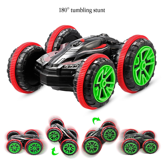 Coupcou.com: 333 - SL01A ZC Stunt Racing Car Double Sided 360 Degree Rotation for Land / Water