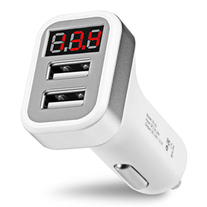 Coupcou.com: HOCO Z3 Intelligent Car Charger 3.1A Dual USB LCD Display