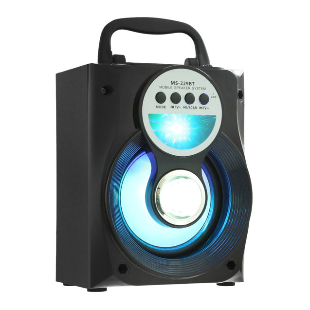 Coupcou.com: GBTIGER MS - 229BT Portable Bluetooth Speaker Bass LED Backlight FM AUX Input