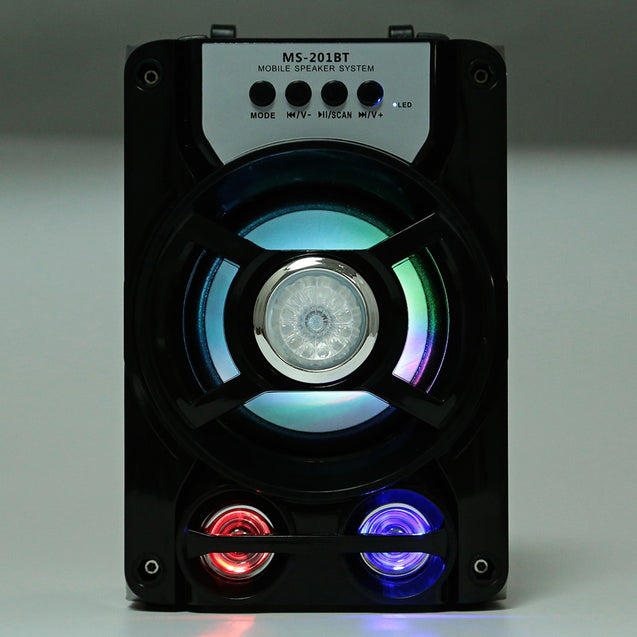 Coupcou.com: MS - 201BT Portable High Power Output Multimedia FM Radio Wireless Bluetooth Speaker