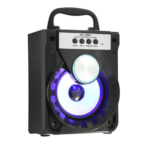 Coupcou.com: MS - 228BT Multi-functional Bluetooth Speaker Bass Colorful Backlight FM Radio AUX