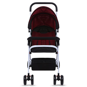 Coupcou.com: MoonSater 1602 Pram Universal Casters Foldable Baby Stroller