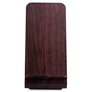Coupcou.com: YoLike A8 10W Qi Wireless Charger Stand Wood Grain Dual Coil