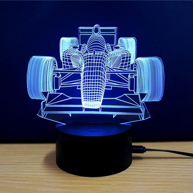Coupcou.com: Colorful Racing Car Model 3D LED Table Lamp