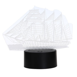 Coupcou.com: Colorful Sailboat Model 3D LED Table Lamp