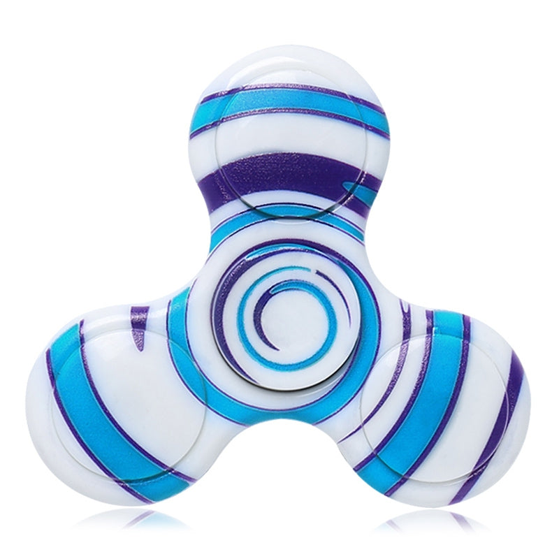Anti-stress Toy Plastic Patterned Fidget SpinnerBLUE