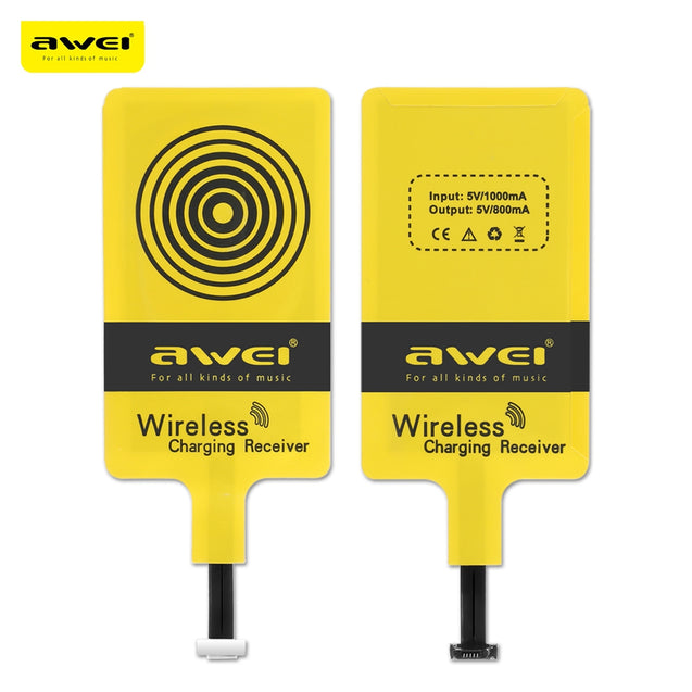 Coupcou.com: Awei Qi Wireless Charging Receiver for Android Mobile Phone