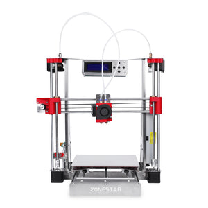Coupcou.com: Zonestar P802QR2 Full Acrylic 3D Printer DIY Kit with Double Extruders
