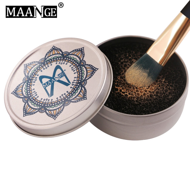 Coupcou.com: MAANGE Makeup Brush Cleaner Sponge Color Remover Box