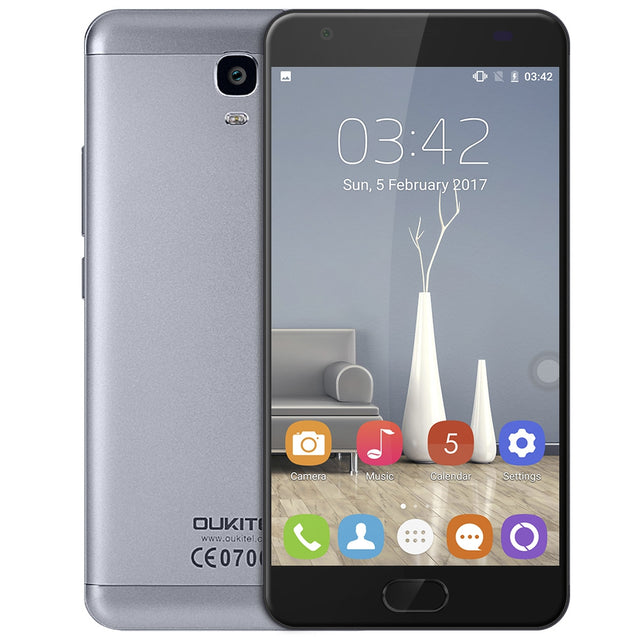 Coupcou.com: OUKITEL K6000 Plus 4G Phablet 5.5 inch Android 7.0 MTK6750T Octa Core 1.5GHz 4GB RAM 64GB ROM 8.0MP + 16.0MP Cameras 6080mAh Battery Front Touch ID
