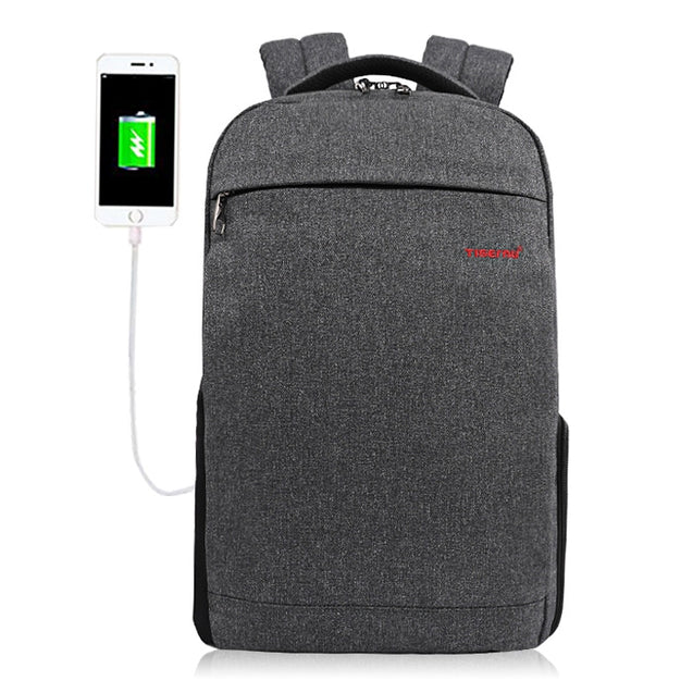 Coupcou.com: Tigernu T - B3217 Wear-resistant USB Port 20L Leisure Backpack 14 inch Laptop Bag