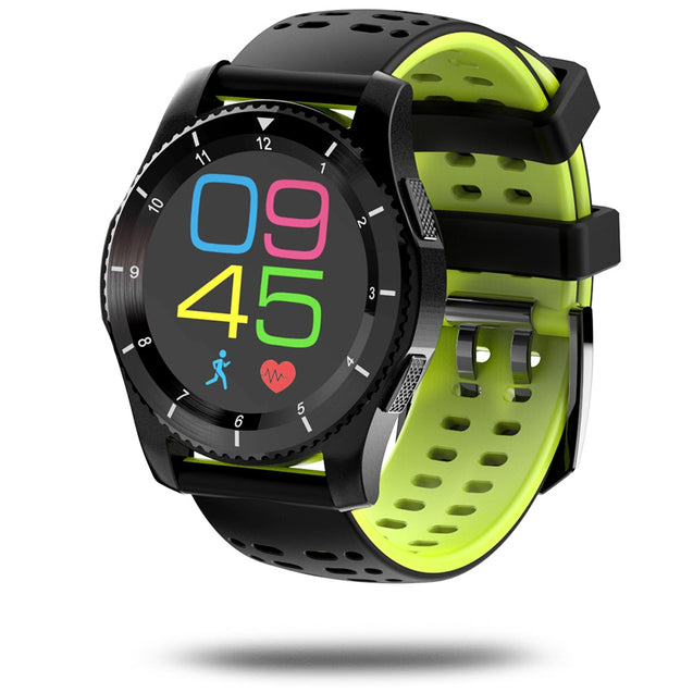 Coupcou.com: NO.1 G8 Smartwatch Phone 1.2 inch Bluetooth 4.0 Heart Rate / Blood Pressure Monitor Remote Camera Pedometer
