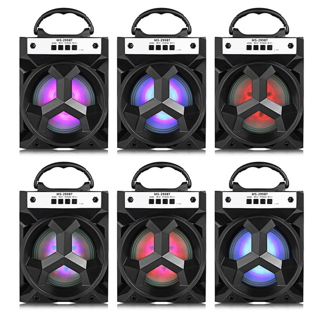 Coupcou.com: MS - 299BT Bluetooth Speaker with LED Lights 5 inch Driver Unit