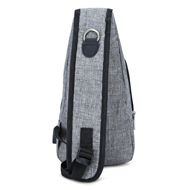 Coupcou.com: Guapabien Casual USB Charge Port Cable Shoulder Crossbody Chest Bag