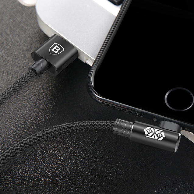 Coupcou.com: Baseus MVP Elbow Type 8 Pin 2A Charging Data Sync Cable 1M