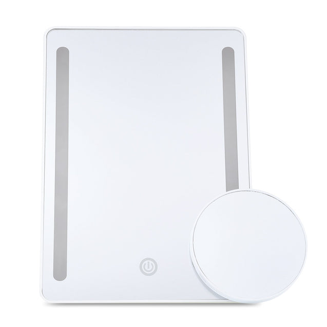 Coupcou.com: Portable Table LED Lights Cosmetic Mirrors with 10X Magnifier