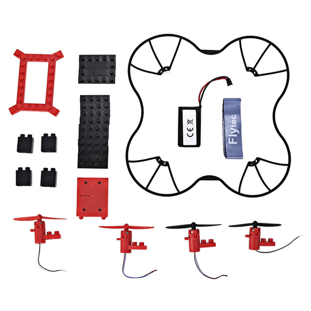 Coupcou.com: Flytec T11 DIY Building Blocks RC Quadcopter 2.4G 4CH Aircraft