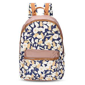 Coupcou.com: Guapabien Waterproof Girls Traveling Preppy Style Print Backpack Zipper School Bag