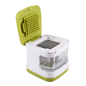 Coupcou.com: Dual-purpose Garlic Crusher Ginger Slicer with Storage Box Kitchen Accessories