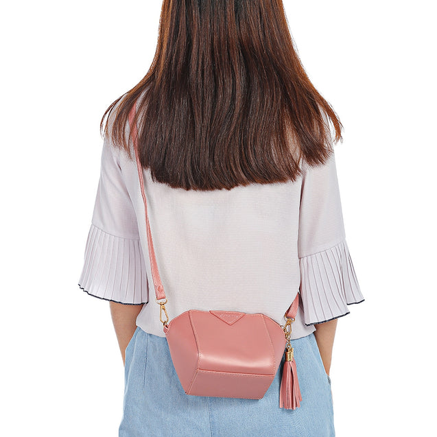 Coupcou.com: Women PU Leather Tassel Phone Shoulder Crossbody Shell Bag Handbag