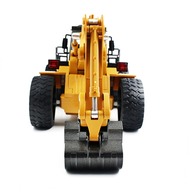 Coupcou.com: HUINA TOYS 1530 1:18 6CH RC Alloy Rooter Truck RTR with Movable Lifting Arm / Mechanical Sound / LED Light