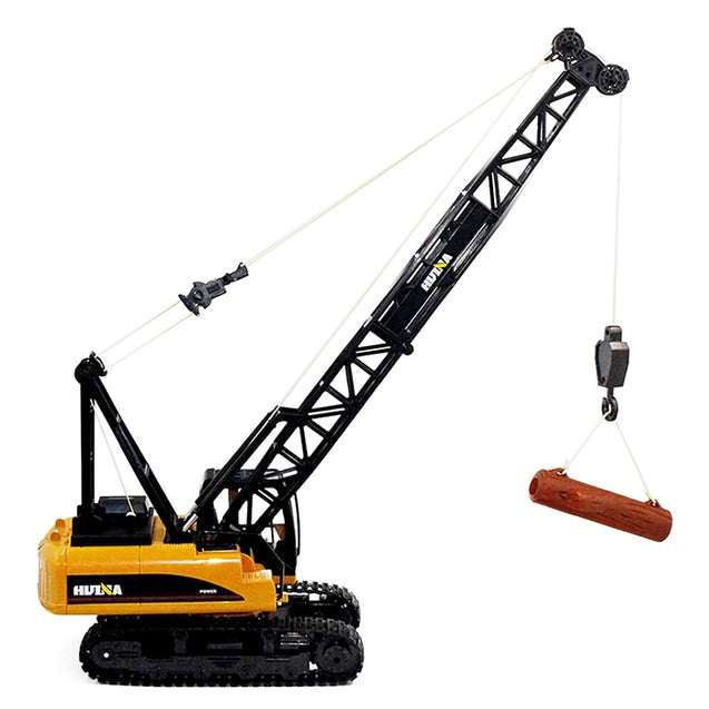 Coupcou.com: HUINA TOYS 1572 1:14 2.4GHz 15CH RC Alloy Crane Engineering Truck RTR with Movable Latticed Boom Hook / Mechanical Sound / Auto Demonstration
