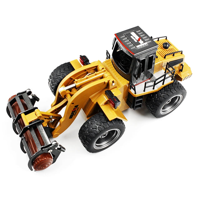 Coupcou.com: HUINA TOYS 1590 1:18 2.4GHz 6CH RC Alloy Timber Grab Truck RTR Grasper Opening Closing / Movable Arm / Mechanical Sound