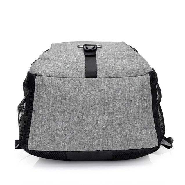 Coupcou.com: Casual Durable Canvas Backpack with USB Port for Men