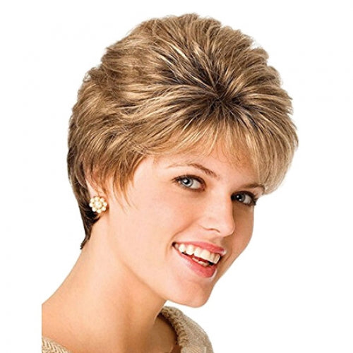 Coupcou.com: Female Fashionable Wig Artificial Short Hair Synthetic Hairpiece