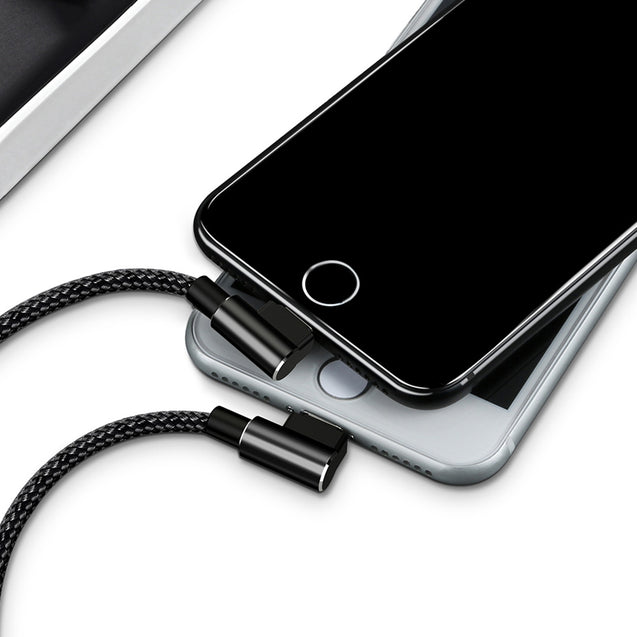 Coupcou.com: Mcdodo Dual Elbow Type 8 Pin Charging Data Sync Cable 1.8M