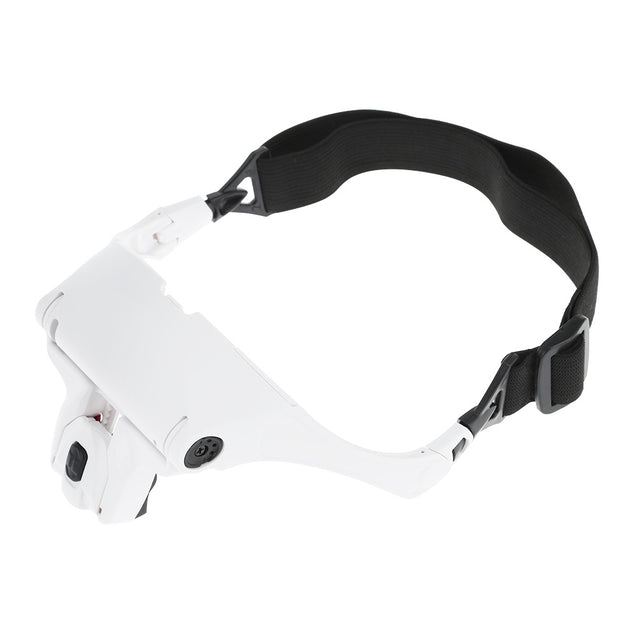 Coupcou.com: Eyeglasses Headband Interchangeable Magnifier with 2 LED Lamp
