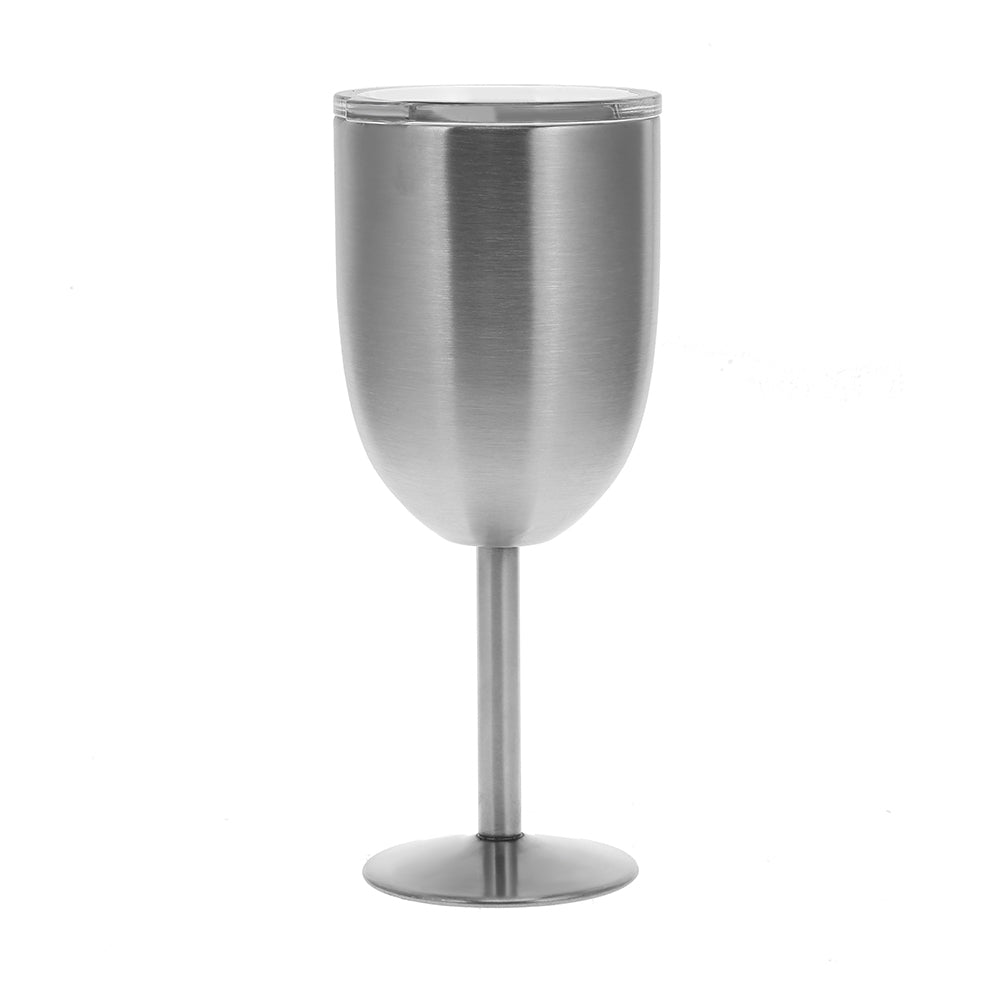 Double-Layer Warm-keeping Stainless Steel Goblet Wine CupSILVER