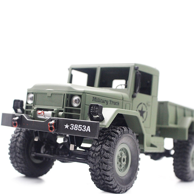 Coupcou.com: HENG LONG 3853A 1:16 Mini Off-road RC Military Truck RTF with Four-wheel Drive