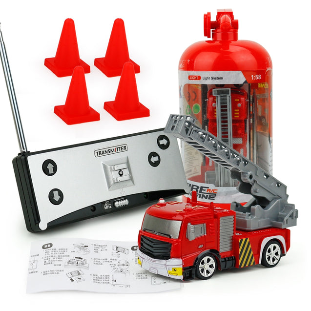 Coupcou.com: Creative ABS 1:58 Mini RC Fire Engine with Remote Control