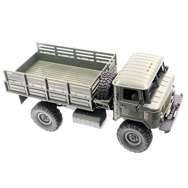 Coupcou.com: WPL B - 24 1:16 2.4G Mini Off-road RC Military Truck RTR Four-wheel Drive / 10km/h Maximum Speed