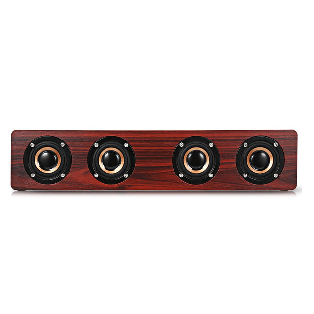 Coupcou.com: W8 Bluetooth Speaker Wireless Stereo Player Wooden Design