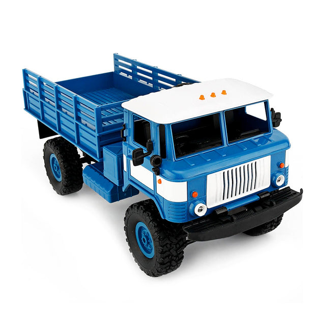 Coupcou.com: WPL B - 24 1:16 2.4G DIY Mini Off-road RC Military Truck Four-wheel Drive / 10km/h Maximum Speed